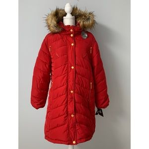 Rocawear Red Puffer Parka Coat NWT